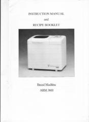 welbilt abm 3600 manuals rh manualslib com welbilt abm300 bread machine manual Welbilt Bread Machine Recipe Book