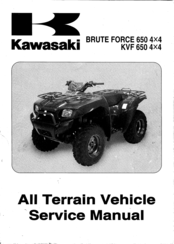 Kawasaki Brute Force 650 4x4 Service Manual Pdf Download