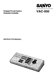 Sanyo VAC-900 Instruction Manual