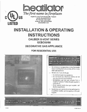 Heatilator gcbc80 manuals heatilator gcbc80 installation operating instructions manual asfbconference2016 Gallery