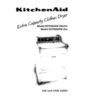 KitchenAid KEYE860W Use And Care Manual