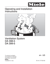 Miele DA 398-5 Operating And Installation Instructions