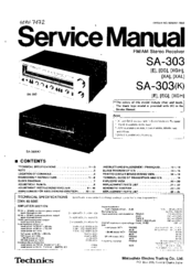 TECHNICS SA-303K SERVICE MANUAL Pdf Download