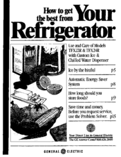 ge tfx24r manuals ge tfx24r manuals ge profile refrigerator manual ge  tfx24r use and care manual