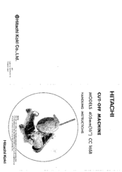 Hitachi CC 16SB Handling Instructions Manual
