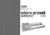 Korg M-500SP Owner's Manual