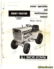 bolens 1253 01 manuals rh manualslib com Bolens Lawn Mower Wiring Diagram Bolens 13AM762F765 Wiring-Diagram
