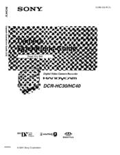 sony dcr hc30 dcr hc40 manuals rh manualslib com sony handycam dcr-hc40e software download sony handycam dcr-hc40e software