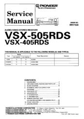 pioneer vsx 505rds manuals rh manualslib com pioneer rds mosfet 50wx4 manual pioneer rds mosfet 50wx4 manual