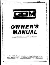 GBM cruise air iii Owner's Manual