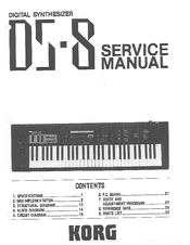 Korg DS-8 Service Manual
