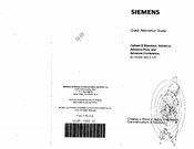 Siemens Advance Conference Telephone Quick Reference Manual
