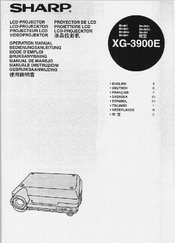 Sharp XG-3900E Operator's Manual