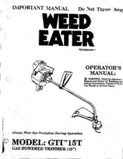 weed eater gti 15t manuals rh manualslib com weed eater gti 19t owners manual weed eater gti 15 manual