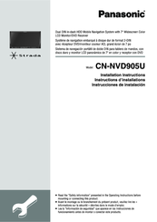 Panasonic CN-NVD905U - Strada - Navigation System Installation Instructions Manual