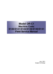 RICOH OR-C1 FIELD SERVICE MANUAL Pdf Download