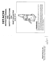 Hitachi RP 30Y Instruction Manual And Safety Instructions
