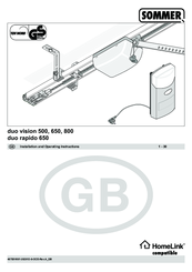 sommer duo vision 800 manuals rh manualslib com Sears Garage Door Sensor Wiring Genie Garage Door Parts Diagram