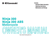 Kawasaki Ninja 300 Owner's Manual