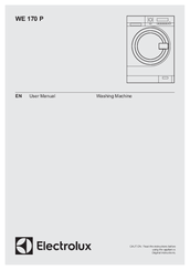ELECTROLUX WE 170 P USER MANUAL Pdf Download