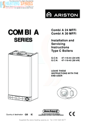 Ariston combi a 30 mffi manuals ariston combi a 30 mffi installation and servicing instructions asfbconference2016 Images