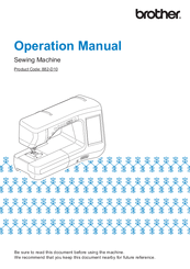 Brother 882-D10 Operation Manual