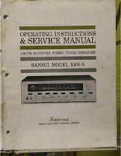 sansui 1000a manuals rh manualslib com Best Sansui Receiver Sansui 1000A Review