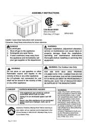 Manuals And User Guides For Patio Glow 98300. We Have 2 Patio Glow 98300  Manuals Available For Free PDF Download: Assembly Instructions Manual