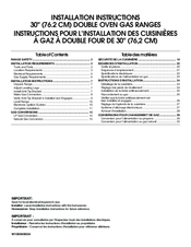 KitchenAid KFGD500ESS Installation Instructions Manual