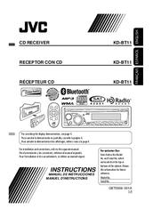 jvc kd bt11 radio cd manuals rh manualslib com JVC User Manual jvc kd-bt11 installation manual