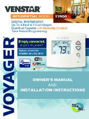 VENSTAR T3900 INSTALLATION INSTRUCTIONS AND OWNER'S MANUAL ... on