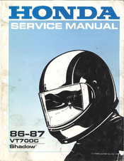Vt700 1986 honda shadow service manual