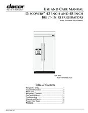 dacor dyf48biws manuals rh manualslib com Refrigerator Dimensions Outdoor Refrigerator