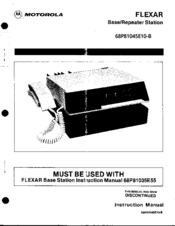 Motorola Flexar Instruction Manual