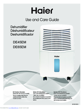 Haier DE45EM Use And Care Manual