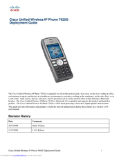 Cisco 7925G - Unified Wireless IP Phone VoIP Deployment Manual