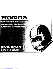 Honda RVF750R RC45 Owner's Manual