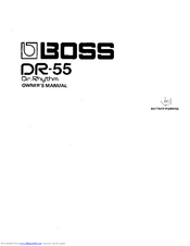 boss dr 55 manuals rh manualslib com bose owners manual bose owners manual