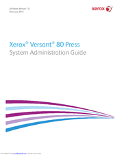 Xerox Versant 80 Press System Administration Manual