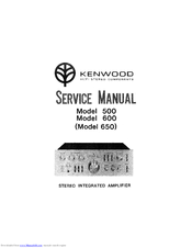 Kenwood 650 Service Manual