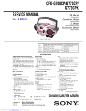 sony cfdg700cp xplod boombox manuals rh manualslib com sony xplod boombox review sony xplod cfd-g700cp boombox manual