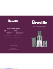 breville juice fountaintm plus je98xl instruction booklet
