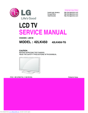 Lg 42LK450-TG Manuals