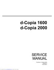 olivetti d copia 1600 manuals rh manualslib com cpi sm service manual cpi oliver service manual