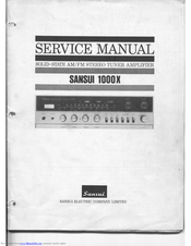 SANSUI 1000X SERVICE MANUAL Pdf Download. on