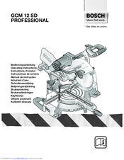 Bosch gcm 10 professional manuals.