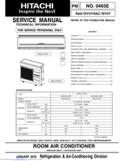 HITACHI RAC-70YH7 SERVICE MANUAL Pdf Download