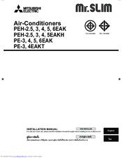 mitsubishi electric mr slim pe 4eak manuals mitsubishi electric mr slim pe 4eak installation manual
