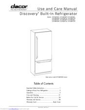 dacor discovery dyf36bfbsr manuals rh manualslib com Glass Front Refrigerator Outdoor Refrigerator