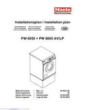 Miele PW 6055 Installations Plan